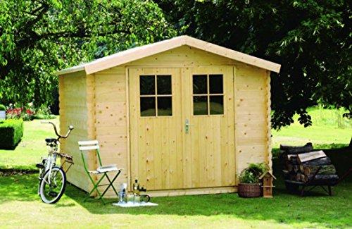 Alpholz Gerätehaus MONS aus Fichten-Holz | Gartenhaus inkl. Dachpappe | Geräteschuppen mit...