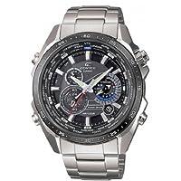 Reloj de caballero CASIO EQS-500DB-1A1ER Edifice de cuarzo, correa de acero inoxidable color plata (con alarma, luz, cronómetro) de Casio