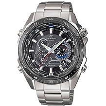 CASIO Edifice EQS-500DB-1A1ER - Reloj de cuarzo con correa de acero inoxidable para hombre, color plateado