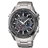 Casio Edifice Herrenuhr Analog Quarz mit Massives Edelstahlarmband – EQS-500DB-1A1ER