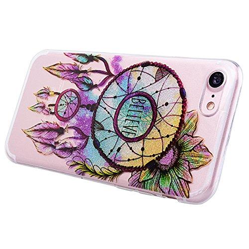 """WE LOVE CASE iPhone 6 Plus / 6s Plus Hülle Blumen Gänseblümchen Trasparent Schön Kristall Klar Glitzern iPhone 6 Plus / 6s Plus 5,5"""" Hülle Rot Weiß Schutzhülle Handyhülle Weich Silikon Handytasche Ult Campanula"""