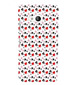 PrintVisa Corporate Print & Pattern Card Suits 3D Hard Polycarbonate Designer Back Case Cover for Nokia Lumia 550