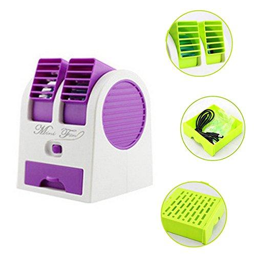 Ventilador de Mesa PLUIESOLEI Mini Ventilador Aire acondicionado Batería de carga USB...