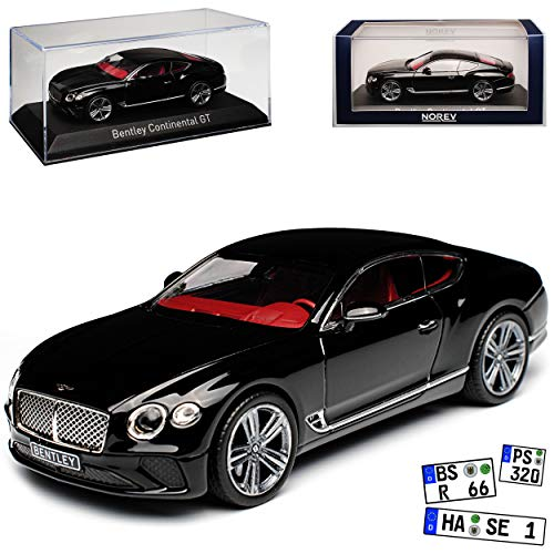 Norev Bentley Continental GT Coupe Schwarz 3. Generation Ab 2018 1/43 Modell Auto (Bentley Modell)