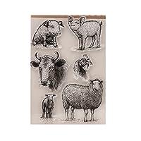 guanjunLI Animals Sheet of Clear Stamps -DIY Scrapbooking, Planner, Card Making, journaling