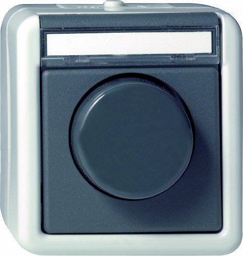 Gira 030130 Dimmer DruckWechsel Glühlampe 60 Wassergeschützt Aufputz 450 W, grau