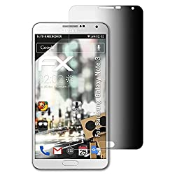 Atfolix Privacy Filter For Samsung Galaxy Note 3 Privacy Screen Protector - Fx-undercover 4-way Visual Protection Screen Protection Film