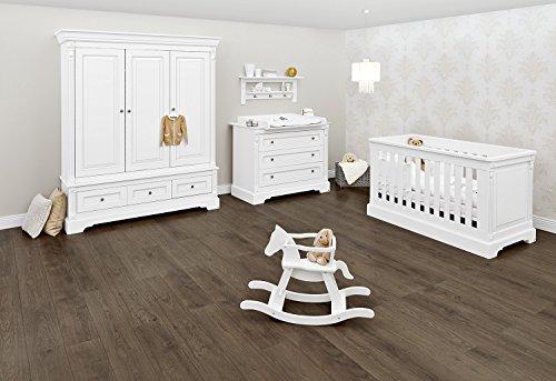 Pinolino 103467BG Kinderzimmer 'Emilia' breit groß, weiß - Home Eleganz Lattenrost