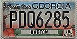 USA Nummernschild PEACH STATE GEORGIA ~ US Kennzeichen Pfirsich Motiv ~ Blechschild