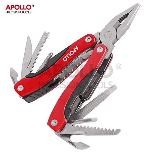 Hi-Spec 15-in-1 Taschen-Multi-Tool Werkzeuge aus ROSTFREIEM STAHL, Säge, Flaschenöffner, Dosenöffner, Schraubendreher, Lineal, Feile!