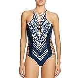 UOWEG Frauen Badeanzug Backless Bunte Geometrische Print Bikini Bademode Beachwear Baden
