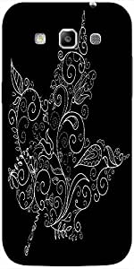 Snoogg black and white maple leaf Hard Back Case Cover Shield For Samsung Galaxy Grand Quattro Win I8550