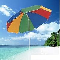 Unibos 5.3ft/1.6m Garden Parasol Umbrella Outdoor Sun Shade For Beach/Pool/Patio Umbrellas Tilting Function Multi Coloured Protection UPF40
