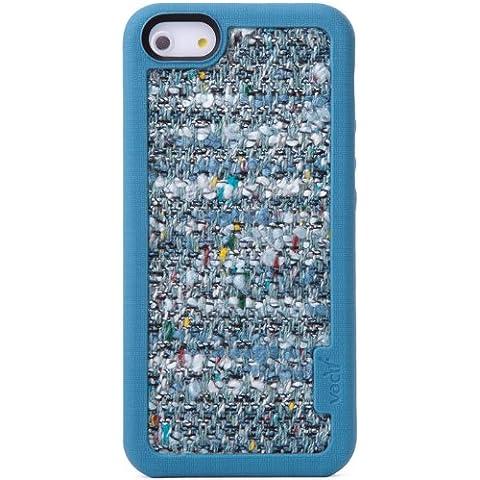 VACII AVC1314AE23 Premium - Carcasa de silicona para Apple iPhone 5 y 5S (con tela en la parte trasera), color azul