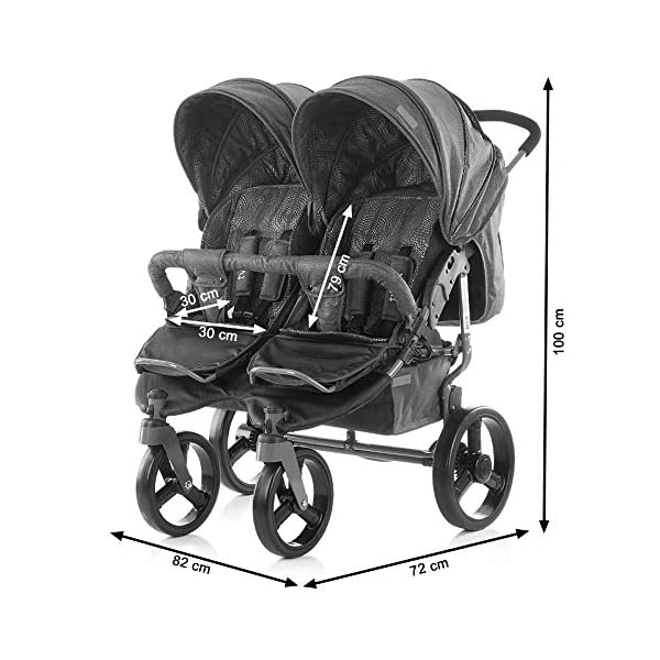 Chipolino Twix Pushchair Brown Chipolino Twin pushchair folds easily with automatic locking From birth, sun canopy with window and pockets Backrest can be adjusted to 5 different sitting and lying positions independently of each other 5