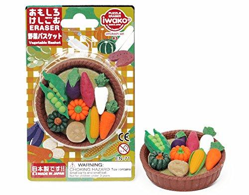 Iwako Japanische Puzzle Radiergummi - Mini Gemüse im Korb
