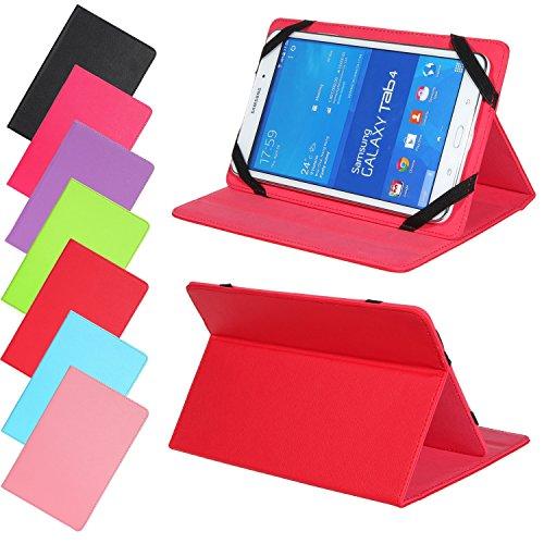 Universal Slim Tasche für Tablet Modelle 7, 8, 9 oder 10 Zoll Größe Schutz Case Hülle Cover (7 / 8 Zoll, Rot) (Apple-tablet-fällen)