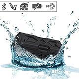 SVPRO Svpro Altavoz Bluetooth resistente al agua, Altavoz al aire libre del deporte inalámbrico portátil, Altavoz estéreo del reproductor de música MP3 con Función NFC, Perfecto para Coche / Barco / Piscina / Ducha / Playa / Alza, etc.