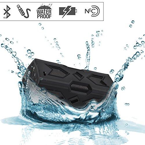 Svpro Svpro Altavoz Bluetooth Resistente al Agua, Altavoz al Aire Libre del Deporte inalámbrico portátil, Altavoz estéreo del Reproductor de música MP3 con Función NFC