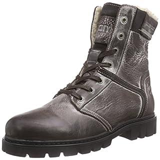 Yellow Cab AMAZ M, Herren Biker Boots, Braun (Dark Brown), 45 EU