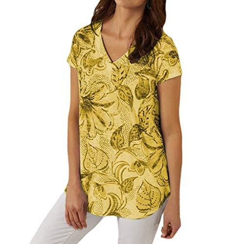 New Look Tops pour Femmes, Chemisier Femme Tops décontractés d'été T-Shirt à Manches Courtes imprimé|Chemisier pour Femme Taille Plus