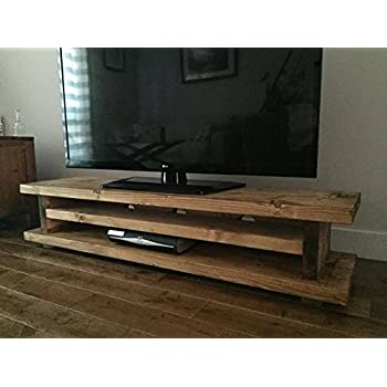 Homescapes columbus large coffee table cum tv unit with - Mobile tv industrial ...