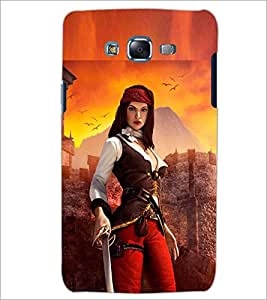 PrintDhaba SWORD GIRL D-7006 Back Case Cover for SAMSUNG GALAXY J7 (Multi-Coloured)
