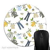 Maus-Pad Tag der Wäsche,7 inch rund Mouse-Pad mit rutschfester Unterlage Standard 1V1160