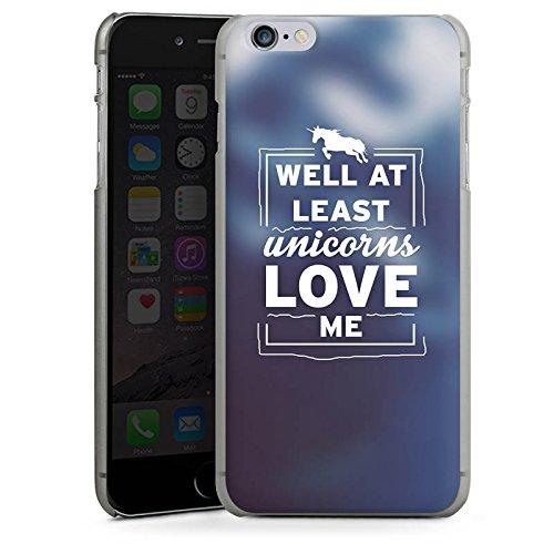 Apple iPhone X Silikon Hülle Case Schutzhülle Unicorn Einhorn Sprüche Hard Case anthrazit-klar
