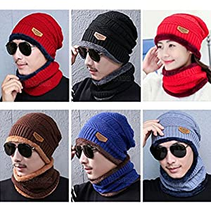 Forfar Beautyrain Mode BonBon Cap Winter Outdoor Hedging Hüte Sport Neck Anzug Baumwolle Knit Warm