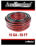 Best Audiopipe Car Speakers - 50' AUDIOPIPE 10 GA GAUGE RED BLACK ZIP Review