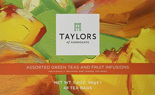 Taylors of Harrogate Assorted Green Teas and Fruit Infusions Selection Box, 96 g (48 Tea Bags in Total)