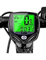 mixigoo Fahrradcomputer Kabellos, Fahrradtacho Drahtlos 16 Funktionen Wasserdicht Fahrradcomputer Tachometer LCD-Hintergrundbeleuchtung Kilometerzähler Radcomputer für Radsport Realtime Speed Track