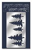 Unbekannt Stampendous Metall Dreamweaver Schablone 12,7cm x 6.875-inch, Kiefer, Bäume