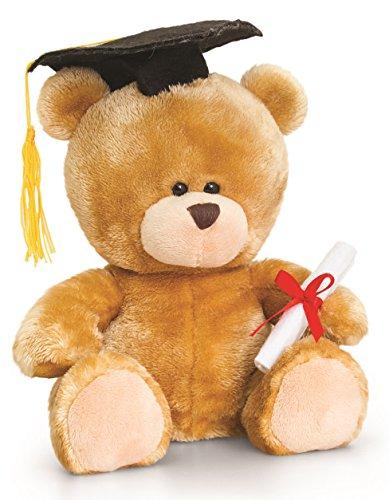 Bär, Pipp The Bear Abitur Abschluss, Kuscheltier Diplom Teddybär mit Kleidung 14 cm ()