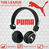 Puma la Ligue Casque stéréo léger avec cordon détachable sans nœuds et bandeau réglable