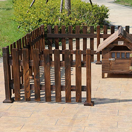 Pet fence, charcoal wooden dog fence fence large/medium and small dog fence  Pet fence