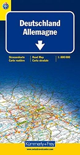 Carte routière et touristique : Allemagne