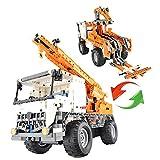 Camión grúa Rc para Montar 2 en 1 (838 piezas)