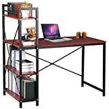 Computer desk Study Table for Office Home Furniture Study Workstation (Brown)