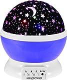 Sun und Stern-Beleuchtung Lampe 4 LED Perlen 360 Grad Romantische Lamp entspannende Stimmung Lichtprojektor-Baby-Kinderzimmer-Schlafzimmer Kinder Zimmer und Weihnachts-Geschenk (lila)