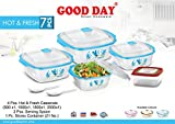 #6: BMS Hot & Fresh Casserole Serving Gift set of 7 Pcs , Blue