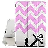 FJCases Anker Winkel Muster (Hellrosa) Smart Cover Tablet-Schutzhülle Hülle Tasche + Auto aufwachen / Schlaf Funktion für Apple iPad Mini 4