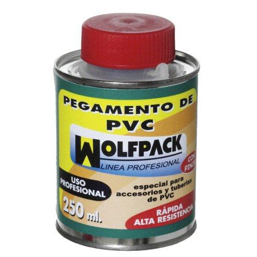 Wolfpack 14020165 - Pegamento PVC con pincel (250 cm³)