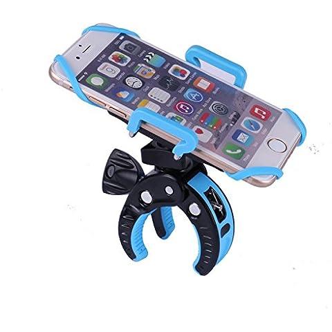 Bicicleta Soporte para teléfono ajustable ancho Mountainbike teléfono Mount/soporte Con Rotación de 360grados para iPhone 6S Plus, 5S, 5C, Samsung Galaxy S7S6Edge Note 5, LG G5, htc10y otros