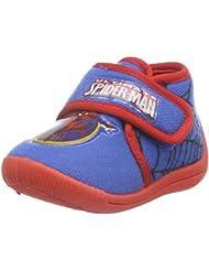 Spiderman Boys Kids Velcro High Houseshoes - Zapatilla de estar por casa Niños