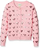 Yumi Girl's Heart and Bow Cardigan, Pink (Dusty Pink), 11-12 Years