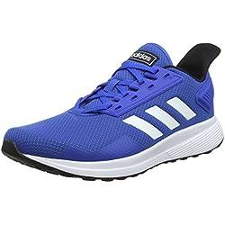 Adidas Duramo 9, Zapatillas de Running para Hombre, Azul (Blue/Footwear White/Core Black 0), 44 EU