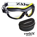 voltX DEFENDER Kompact BIFOKALE Belüftet Schutzbrille (KLAR +2.0 Dioptrie), CE EN166FT zertifiziert, Anti-Beschlag Beschichtung + Sicherheitsetui mit steifem Clamshell Verschluss - Compact Bifocal Safety Goggles