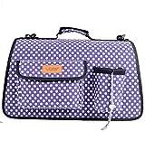 LVRXJP Haustier-Träger-Welpen-Pudel-Chihuahua-Taschen-Kätzchen-Katzen-Dackel-Handtasche zusammenklappbar, l